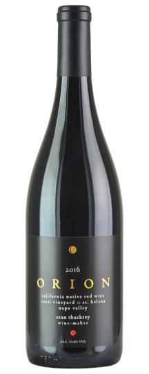 2016 Sean Thackrey Orion Rossi Vineyard Old Vines