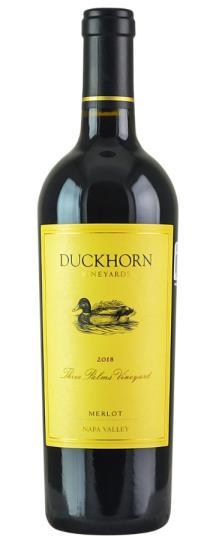 2018 Duckhorn Merlot Three Palms Vineyard