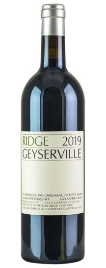 2019 Ridge Geyserville Proprietary Red Wine