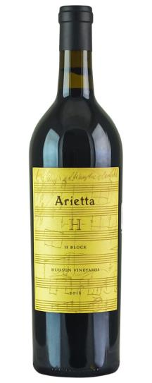 2016 Arietta Arietta Proprietary Red H Block Hudson Vineyard