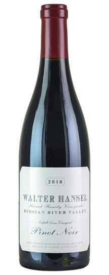 2018 Walter Hansel Winery Pinot Noir Cahill Lane