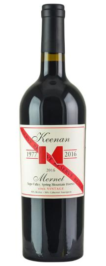 2016 Robert Keenan Winery Mernet