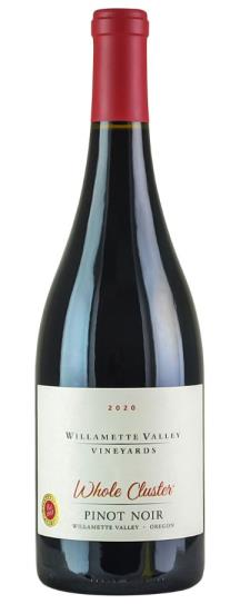 2020 Willamette Valley Pinot Noir Whole Cluster