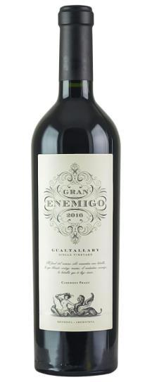 2016 Bodega Aleanna Gran Enemigo Gualtallary Single Vineyard