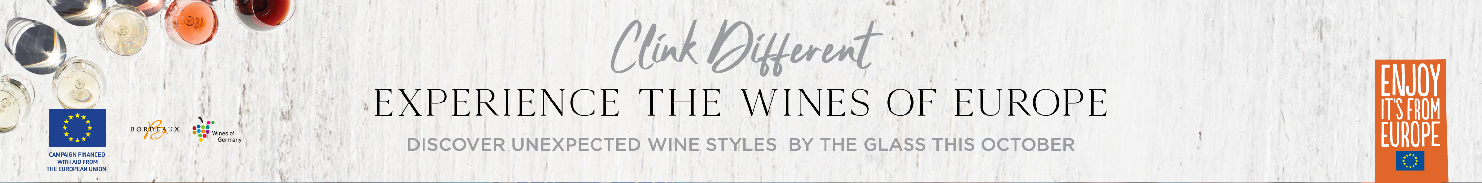 Clink Different - Experience the Wines of Europe