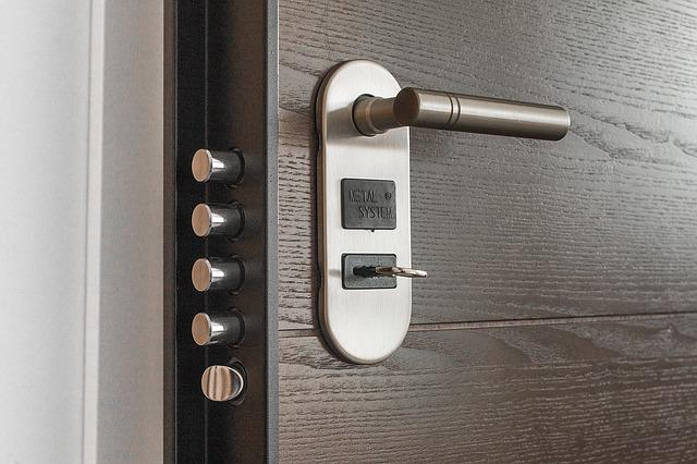 Secure lock on a door